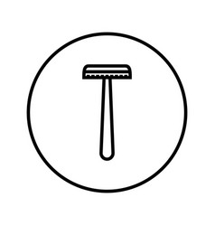 shaver safety razor icon editable thin line vector image