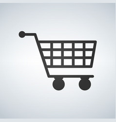 shopping cart virtual ecommerce business symbol vector image