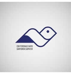 sign abstract bird in flight vector image