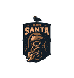 skull santa claus vector image
