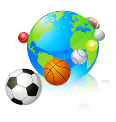 sports globe world concept vector image vector image