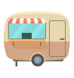street food trailer icon cartoon style vector image