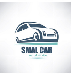 stylized symbol of midget car micro automobile vector image