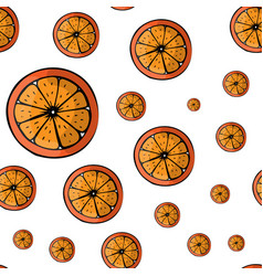 summer pattern with fruits oranges seamless vector image