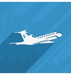 Symbol of The Aircraft and the City vector image