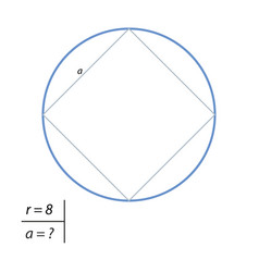 The task of finding the square side vector