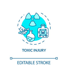 Toxic injury intoxication concept icon traumatism vector