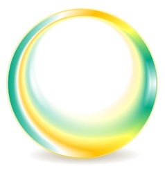 Turquoise and yellow blurred round logo design vector