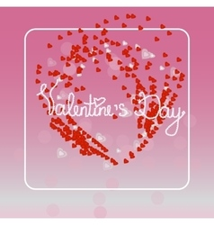 Valentine s Day for decoration bag t-short vector image