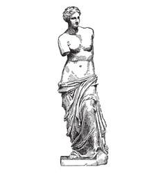 Venus de milo is a famous ancient greek statue vector