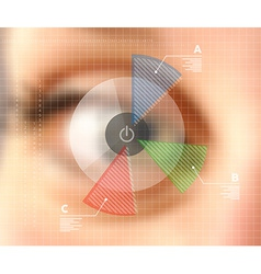 Virtual screen eye infographics blurred effect vector image