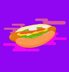 walking hot dog vector image