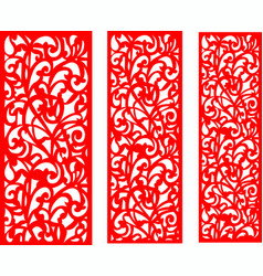 Wedding red screen vector