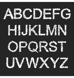 White and black font vector