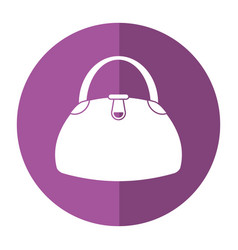 Woman handbag fashion style shadow vector