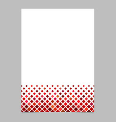 brochure template from red diagonal square vector image vector image