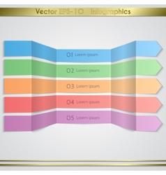 Modern paper arrow infographics elements vector image