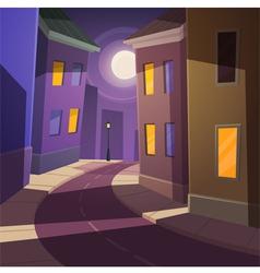 Night city street vector image vector image