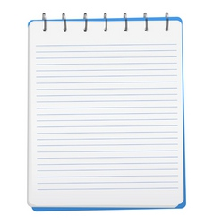 opened notebook vector image vector image
