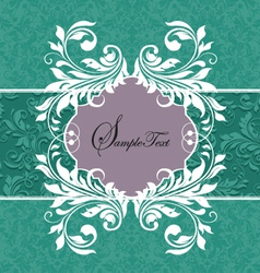 Template frame design for greeting card vector image vector image