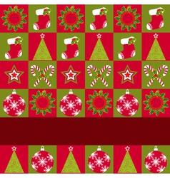 christmas ornament seamless vector image