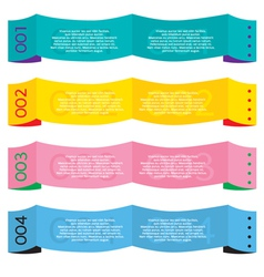 Colorful Paper Banners vector image vector image