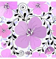 decorative wallpaper pattern vector image vector image