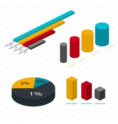 Flat 3d isometric infographic for your business vector image vector image
