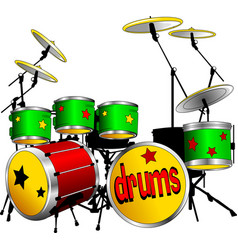 green drums vector image vector image