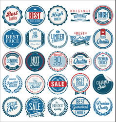 retro vintage badges collection 1 vector image vector image