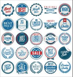 retro vintage badges collection 1 vector image