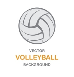 Volleyball gray background vector image vector image