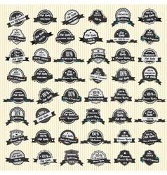 48 Premium Quality Labels vector image