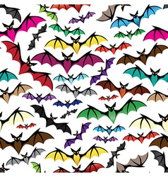 Halloween bat seamless pattern vector image