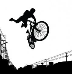 Kid biker vector