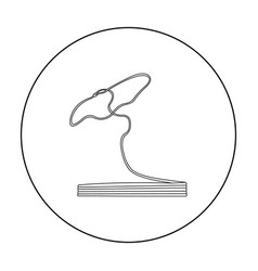 lasso icon outline singe western icon from the vector image vector image