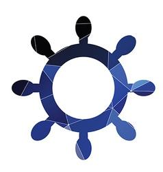 ship wheel icon Abstract Triangle vector image