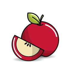apple fruit icon stock vector image
