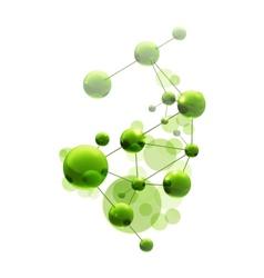 Green molecule vector image vector image