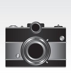 Retro black camera vector image vector image