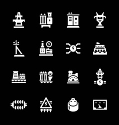Set icons of power industry vector image