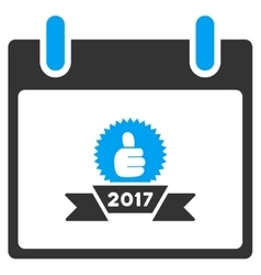 2017 Award Ribbon Calendar Day Toolbar Icon vector image
