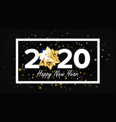 2020 happy new year holiday elegant banner vector