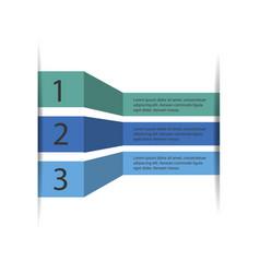 5 steps of modern arrow infografics template for vector image