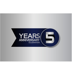 5 years anniversary logo style with circle vector