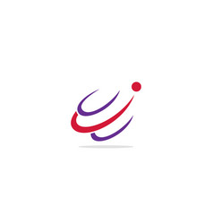 Abstract curve active company logo vector