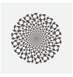 Abstract round geometric vector