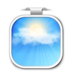Abstract sky sticker vector