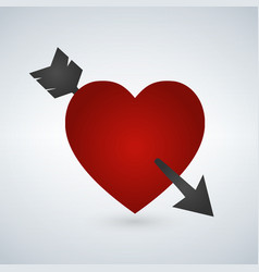 amour symbol with heart and arrow icon vector image