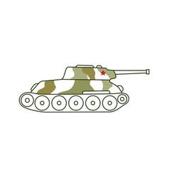 Armoured tank icon 23 february holiday vector